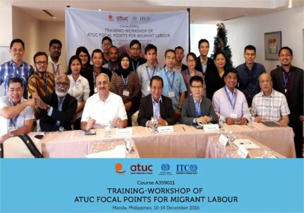 Focal points training on the online database for migrant workers