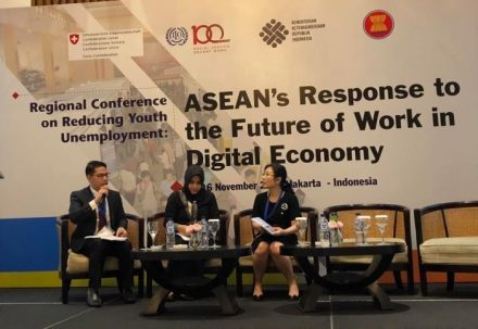 ATUC youth joins conference on reducing youth unemployment and the future of work